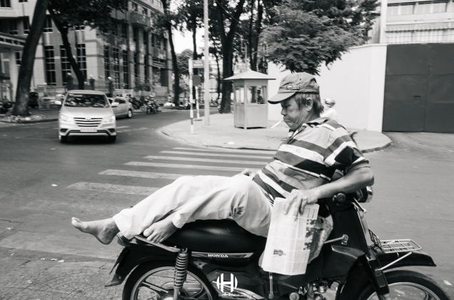 Vietnam, Saigon, Men, Moped, Motorcycle, Street Photography, Street, Black and White, Ricoh GR, Ricoh,_-12