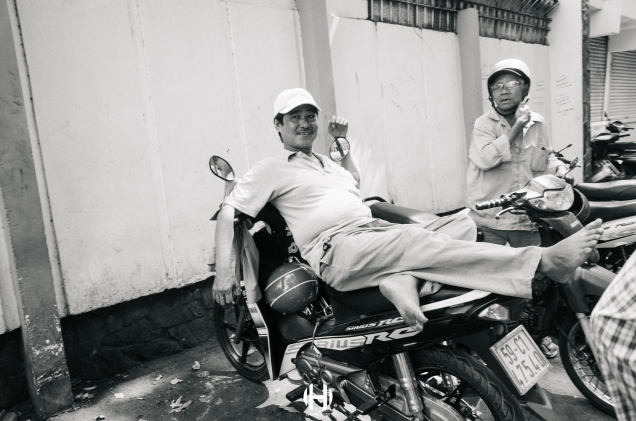 Vietnam, Saigon, Men, Moped, Motorcycle, Street Photography, Street, Black and White, Ricoh GR, Ricoh,_-13