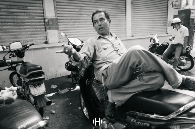 Vietnam, Saigon, Men, Moped, Motorcycle, Street Photography, Street, Black and White, Ricoh GR, Ricoh,_-14