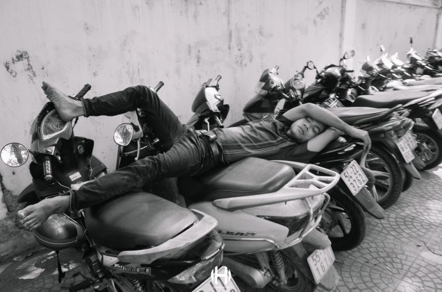 Vietnam, Saigon, Men, Moped, Motorcycle, Street Photography, Street, Black and White, Ricoh GR, Ricoh,_-15
