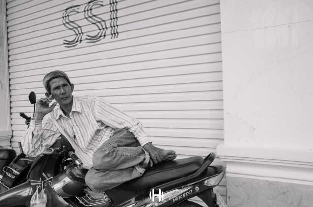 Vietnam, Saigon, Men, Moped, Motorcycle, Street Photography, Street, Black and White, Ricoh GR, Ricoh,_-20