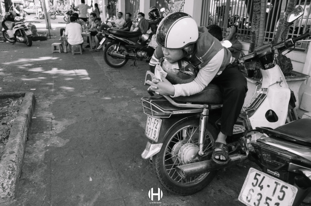 Vietnam, Saigon, Men, Moped, Motorcycle, Street Photography, Street, Black and White, Ricoh GR, Ricoh,_-6